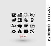 finance icons vector  flat... | Shutterstock .eps vector #561113389