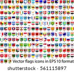 a set of flags in format eps10. ... | Shutterstock .eps vector #561115897
