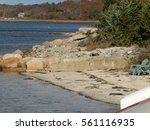 waquoit bay  mashpee  ma. early ... | Shutterstock . vector #561116935