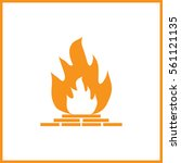 fireplace icon. | Shutterstock .eps vector #561121135