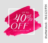 sale up to 40  off sign over... | Shutterstock .eps vector #561121954
