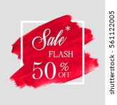 sale flash 50  off sign over... | Shutterstock .eps vector #561122005
