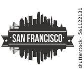san francisco skyline stamp...   Shutterstock .eps vector #561122131