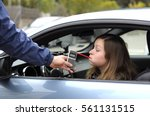 drink and drive crashed young... | Shutterstock . vector #561131515