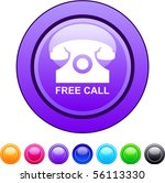 free call glossy circle web...