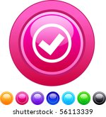 mark glossy circle web buttons. | Shutterstock .eps vector #56113339