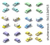 vector isometric set of pickup... | Shutterstock .eps vector #561136915
