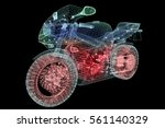 thermodynamics of the motorbike | Shutterstock . vector #561140329