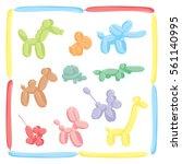 balloon animals set   dog ...   Shutterstock .eps vector #561140995