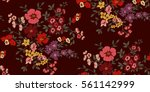 seamless floral pattern in... | Shutterstock .eps vector #561142999