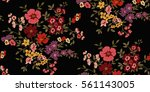 seamless floral pattern in... | Shutterstock .eps vector #561143005