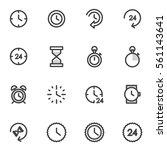 vector set of utline icons... | Shutterstock .eps vector #561143641