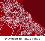 red scheme of the buenos aires  ... | Shutterstock .eps vector #561144571