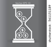 hourglass with dollars vector...