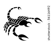 black scorpio isolated on white | Shutterstock .eps vector #56116492