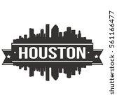 houston skyline stamp... | Shutterstock .eps vector #561166477