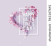 Valentines Day Card With Pink...