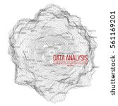 analysis of big data concept... | Shutterstock .eps vector #561169201