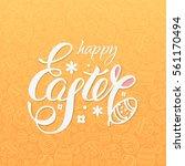 happy easter vector... | Shutterstock .eps vector #561170494
