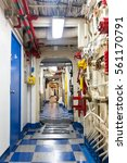 Small photo of Aircraft carrier corridor