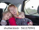 mother and two children in the... | Shutterstock . vector #561170941