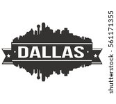 dallas skyline silhouette stamp ... | Shutterstock .eps vector #561171355