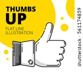 thumbs up. colored flat line... | Shutterstock .eps vector #561174859