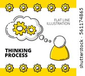 thinking process with mechanic... | Shutterstock .eps vector #561174865