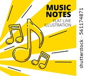 music note. colored flat line... | Shutterstock .eps vector #561174871