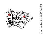 handmade vector calligraphy and ... | Shutterstock .eps vector #561176521