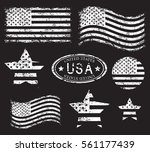 usa american grunge flag set ...   Shutterstock .eps vector #561177439