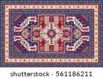 colorful oriental pixel mosaic...   Shutterstock . vector #561186211