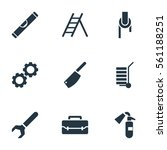 set of 9 equipment icons....