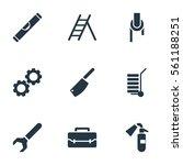 set of 9 equipment icons....