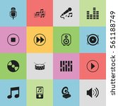 set of 16 sound icons. includes ...