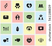 set of 16 heart icons. includes ...