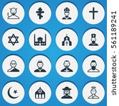 set of 16 faith icons. includes ...