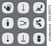 set of 9 garden icons. includes ...