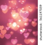rose gold and pink heart... | Shutterstock . vector #561197059