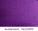 Water Drop In Purple Background