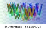 alphabet w pattern background | Shutterstock .eps vector #561204727