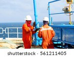 offshore oil and gas industry ... | Shutterstock . vector #561211405