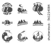 set ski logo design template... | Shutterstock .eps vector #561214084