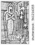 mummy. egyptian mythological... | Shutterstock .eps vector #561216355