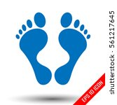 Footprint Icon. Simple Flat...