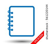 notebook icon. notebook sign.... | Shutterstock .eps vector #561220144