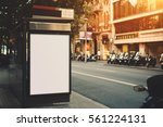 bus stop in urban settings with ... | Shutterstock . vector #561224131