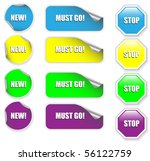 set of colorful discount ... | Shutterstock .eps vector #56122759