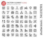factory elements   thin line... | Shutterstock .eps vector #561232501