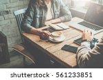 teamwork. businessman and... | Shutterstock . vector #561233851